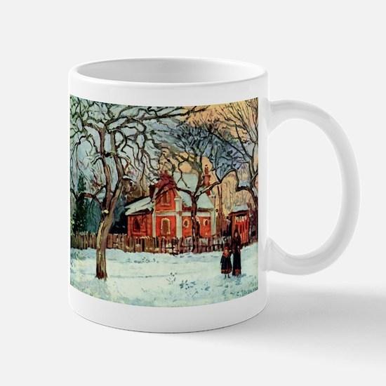 Camille Pissarro - Chestnut Trees, Louvecienn Mugs