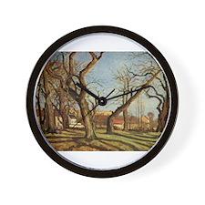 Camille Pissarro - Chestnut Trees at Lo Wall Clock