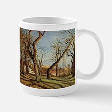 Camille Pissarro - Chestnut Trees at Louvecie Mugs