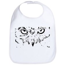 black and white head owls, raptors Bib