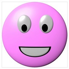 Powder Pink Smiley Face Poster