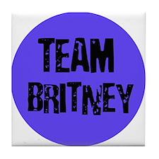 Team Britney Tile Coaster