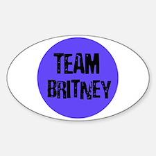 Team Britney Oval Decal