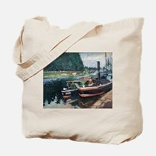 Camille Pissarro - Barges on Pontoise Tote Bag