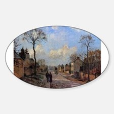 Camille Pissarro - A Road in Louveciennes Decal