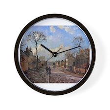 Camille Pissarro - A Road in Louvecienn Wall Clock