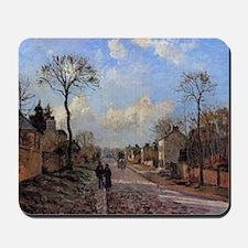 Camille Pissarro - A Road in Louvecienne Mousepad