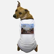 Camille Pissarro - A Road in Louvecien Dog T-Shirt