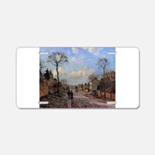Camille Pissarro - A Road i Aluminum License Plate