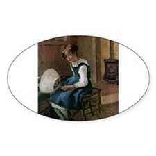 Camille Pissarro - Jeanne Holding a fan Decal