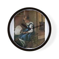 Camille Pissarro - Jeanne Holding a fan Wall Clock