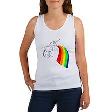 Vomit Rainbow Unicorn Women's Tank Top