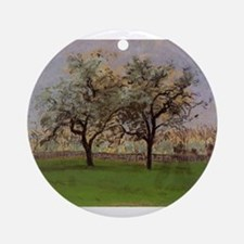 Camille Pissarro - Apples Trees at Round Ornament