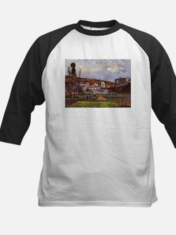 Camille Pissarro - Kitchen Gardens Baseball Jersey