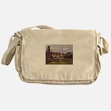 Camille Pissarro - Kitchen Gardens a Messenger Bag