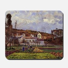 Camille Pissarro - Kitchen Gardens at l' Mousepad