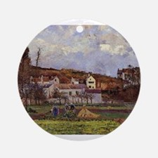 Camille Pissarro - Kitchen Gardens Round Ornament