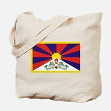 Tibetan Free Tibet Flag - Peu Rangzen Tote Bag