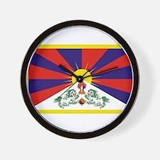 Tibetan Free Tibet Flag - Peu Rangzen Wall Clock