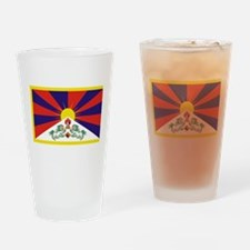 Tibetan Free Tibet Flag - Peu Rangz Drinking Glass