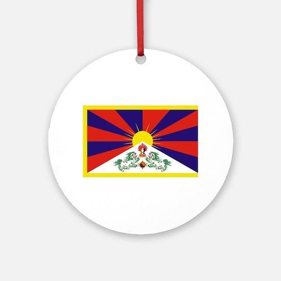 Tibetan Free Tibet Flag - Peu Rangz Round Ornament