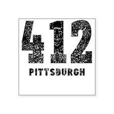 412 Pittsburgh Distressed Sticker