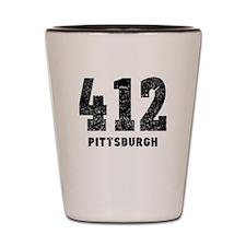 412 Pittsburgh Distressed Shot Glass