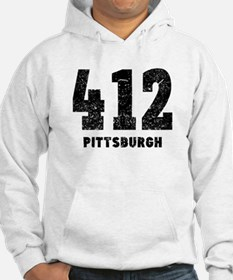 412 Pittsburgh Distressed Hoodie