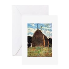 Giovanni Fattori - Hay Stacks Greeting Cards