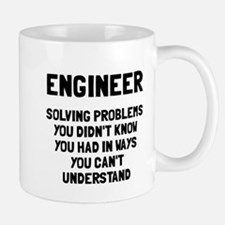 Engineer solving problems Small Mugs
