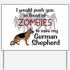 GSD vs Zombies Yard Sign
