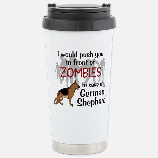 GSD vs Zombies Travel Mug