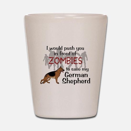 GSD vs Zombies Shot Glass