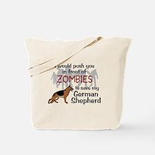 GSD vs Zombies Tote Bag