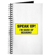 SPEAK UP - I'M HARD OF HEARING! Journal