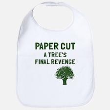 Paper cut tree's revenge Bib