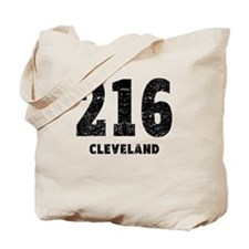 216 Cleveland Distressed Tote Bag