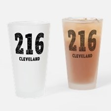 216 Cleveland Distressed Drinking Glass