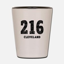 216 Cleveland Distressed Shot Glass