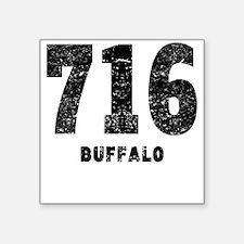 716 Buffalo Distressed Sticker