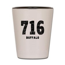 716 Buffalo Distressed Shot Glass