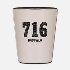 716 Buffalo Distressed Shot Glass