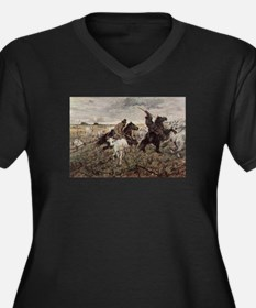 Giovanni Fattori - Cowboys and H Plus Size T-Shirt