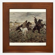 Giovanni Fattori - Cowboys and Herds i Framed Tile