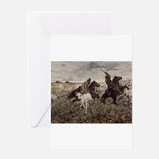 Giovanni Fattori - Cowboys and Herd Greeting Cards