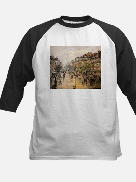 Camille Pissarro - Boulevard Montm Baseball Jersey