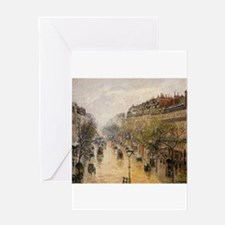 Camille Pissarro - Boulevard Montma Greeting Cards