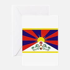 Tibetan Free Tibet Flag - Peu Rangz Greeting Cards