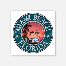 """Cute Miami florida Square Sticker 3"""" x 3"""""""