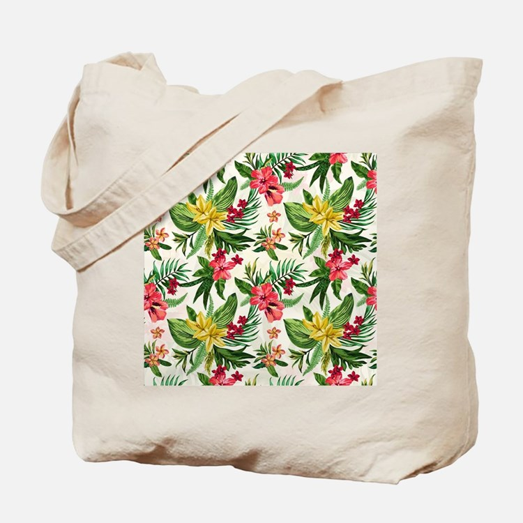 Colorful Exotic Flowers Tote Bag